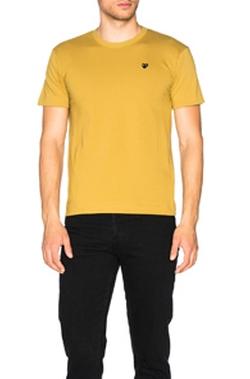 Men's 'Black Emblem' Cotton Jersey T-Shirt by Comme Des Garcons in The Defenders