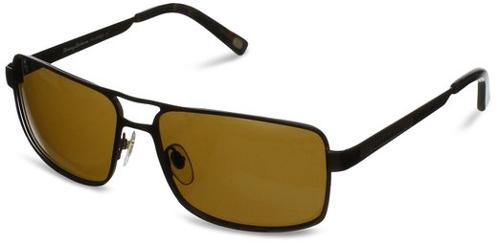 Captain Koi TB6023 Polarized Rectangular Sunglasses by Tommy Bahama in Savages