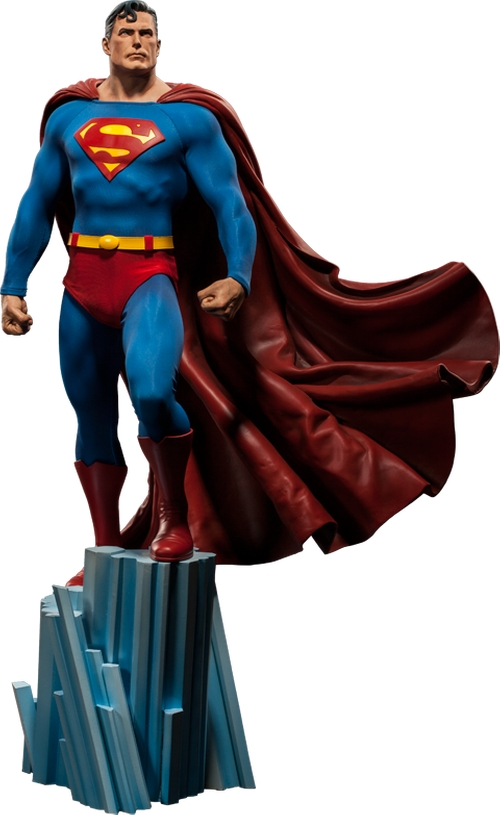 Superman Premium Format Figure by Sideshow Collectibles in The Big Bang Theory - Season 9 Episode 4