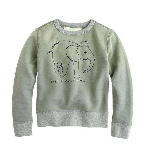 Kids' Wildlife Trust Elephant Sweatshirt by J.Crew in Black-ish - Season 2 Episode 9