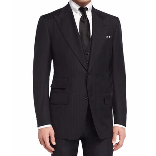 Windsor Base Herringbone Three-Piece Suit by Tom Ford in Live By Night