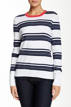 Shane Crew Neck Sweater by Equipment in Scream Queens