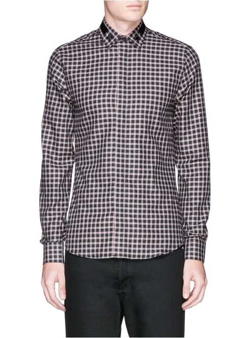 Star Stripe Collar Check Flannel Shirt by Givenchy in Empire - Season 2 Episode 10