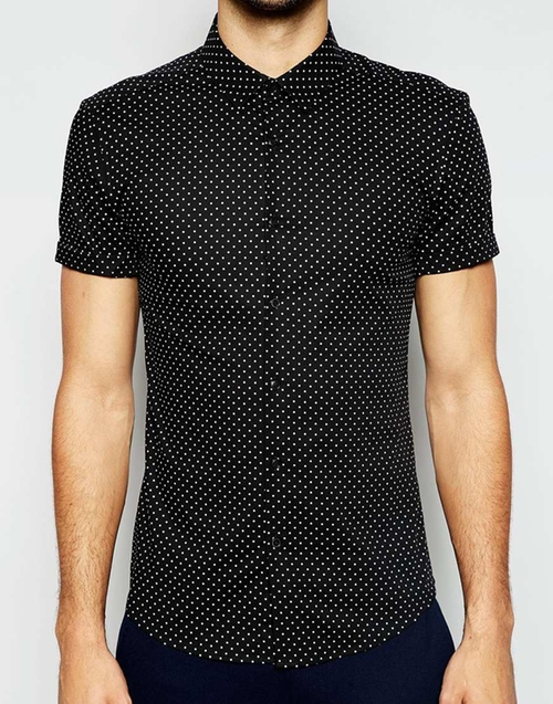 Skinny Fit Shirt by Asos in Knocked Up