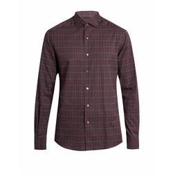 Button-cuff Checked Cotton Shirt by Ermenegildo Zegna in Quantico