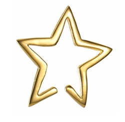 Star Cuff Earrings by Tada & Toy in Arrow