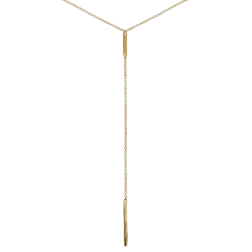 In Line Yellow Gold Diamond Lariat Necklace by La Soula in Pretty Little Liars