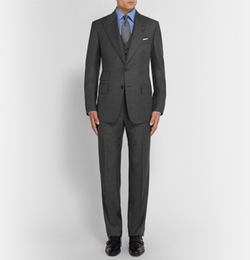 Slim-Fit Sharkskin Wool Three-Piece Suit by Tom Ford in The Blacklist