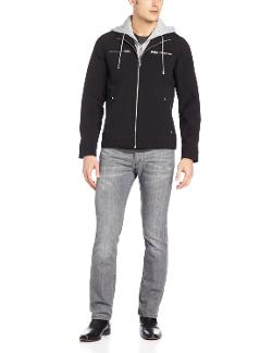 Men's Soft Shell Zip Front with Hood Bib by Buffalo in Walk of Shame