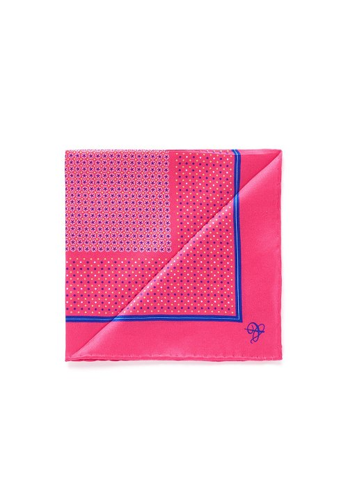 Micro Floral Dot Silk Pocket Square by Canali in Top Five