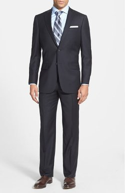 'New York' Classic Fit Wool Suit by Hart Schaffner Marx in Crazy, Stupid, Love.