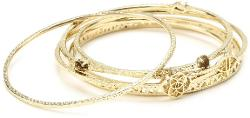 Signature Jordana Gold Bangle-Bracelet by Kendra Scott in Couple's Retreat