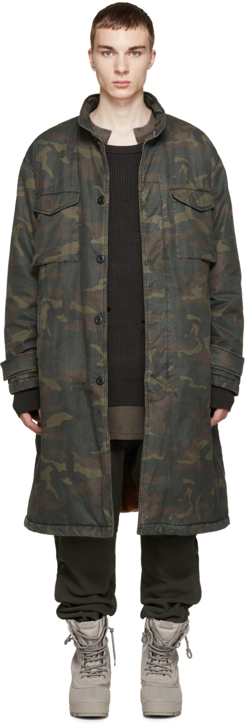 Camouflage Trenchcoat by Yeezy Season 1 in Keeping Up With The Kardashians - Season 11 Episode 13
