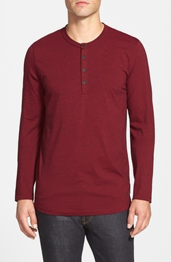 Long Sleeve Henley Shirt by 7 For All Mankind in Arrow