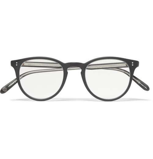 Milwood Round-Frame Acetate Optical Glasses by Garrett Leight in Self/Less