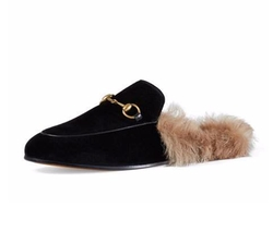 Princetown Velvet Fur-Lined Mule by Gucci in Keeping Up With The Kardashians