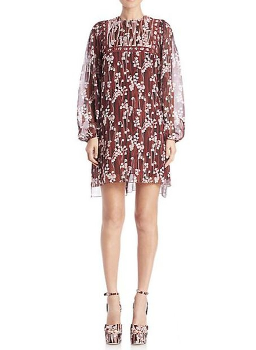 Floral Blouson Dress by Giamba in Empire