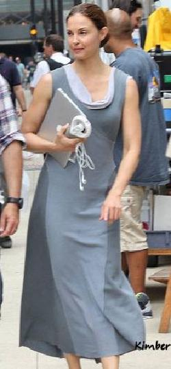 Custom Made Natalie Prior Abnegation Dress by Carlo Poggioli (Costume Designer) in Divergent