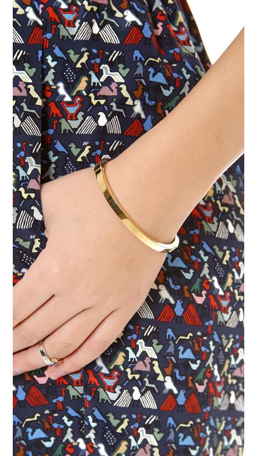 Thin Hinged Bangle Bracelet by Michael Kors in The Other Woman