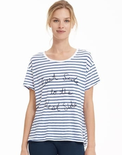 Striped East Side Loose Tee by Sundry in Unbreakable Kimmy Schmidt