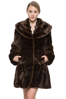 Women's Sable Faux Fur Coat by Ovonzo in The Finest Hours