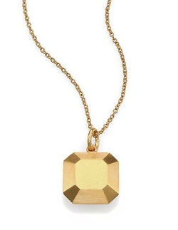 Makri Square Gem Pendant Necklace by IAM by Ileana in Before I Wake