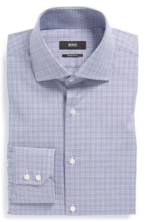 'Gerald' WW Regular Fit Check Dress Shirt by Boss Hugo Boss in The Best of Me