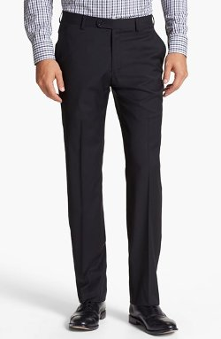 'Astor' Flat Front Wool Trousers by John Varvatos Star USA in John Wick