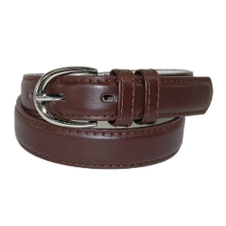 Girls Leather Basic Dress Belt by CTM in Tomorrowland