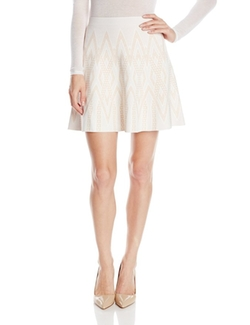 Queeny Jacquard Flippy Skirt by BCBGmaxazria in Elementary