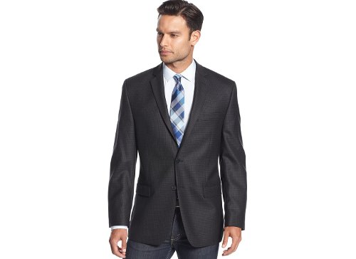 Herringbone Slim-Fit Sport Coat by Calvin Klein in While We're Young