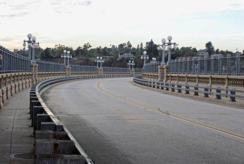 Colorado Street Bridge Pasadena, California in La La Land