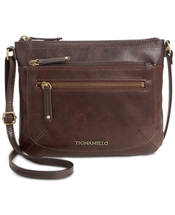 Leather Small Crossbody Bag by Tignanello in The Big Bang Theory