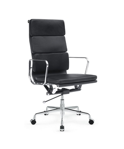 Soft Conference Office Chair High Back, Black by Fine Mod Imports in Trainwreck