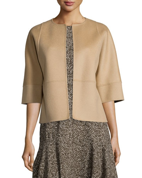 Melton Open-Front Shell Jacket by Michael Kors Collection in The Good Wife