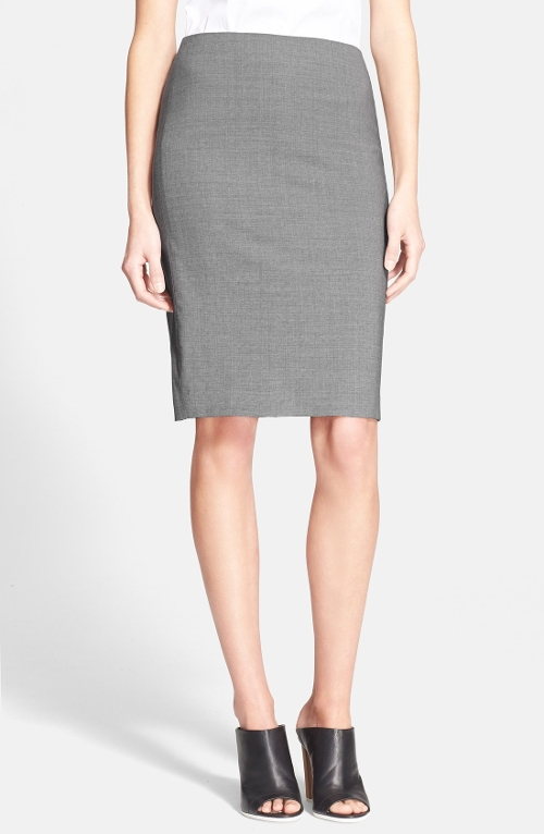Stretch Wool Pencil Skirt by Theory in Poltergeist