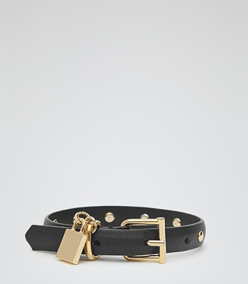 Studded Padlock Detail Bracelet by Hazel Stud in The Hangover