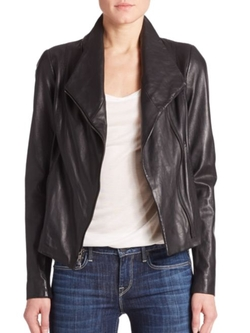 Leather Scuba Jacket by Vince in Jessica Jones