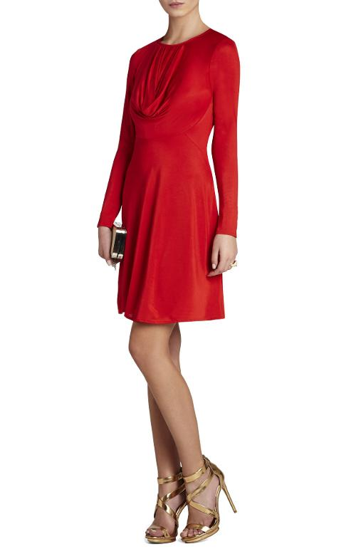 Long-Sleeve Draped Dress by Sam in The Expendables 3