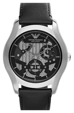 Automatic Leather Strap Watch by Emporio Armani in Furious 7