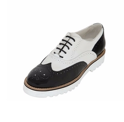 Two Tone Leather Oxford Shoes by Hogan in Scream Queens