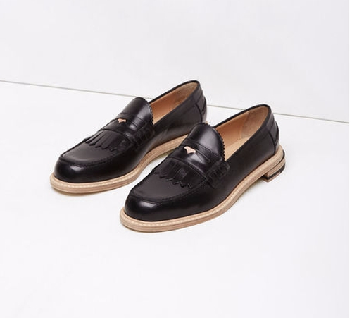 Slipped Heel Kiltie Penny Loafer by Band of Outsiders in The Boss