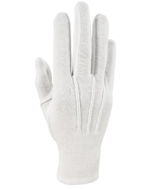 Men's White Formal Nylon Gloves by Cristoforo Cardi in Southpaw