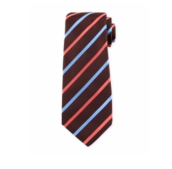 Wide-Stripe Silk Tie by Kiton in The Flash