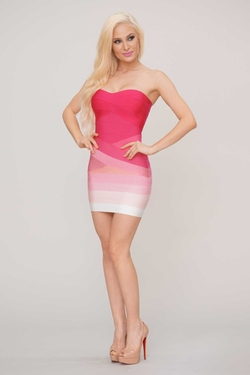 Rhea Ombre Bandage Dress by Posh Shop in Neighbors 2: Sorority Rising