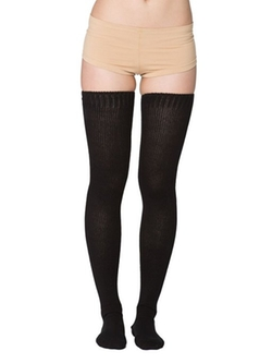 Cotton Solid Thigh-High Socks by American Apparel in The Hundred-Foot Journey