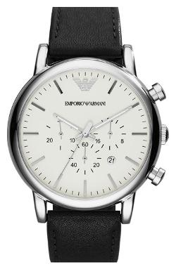 Chronograph Leather Strap Watch by Emporio Armani in Chronicle