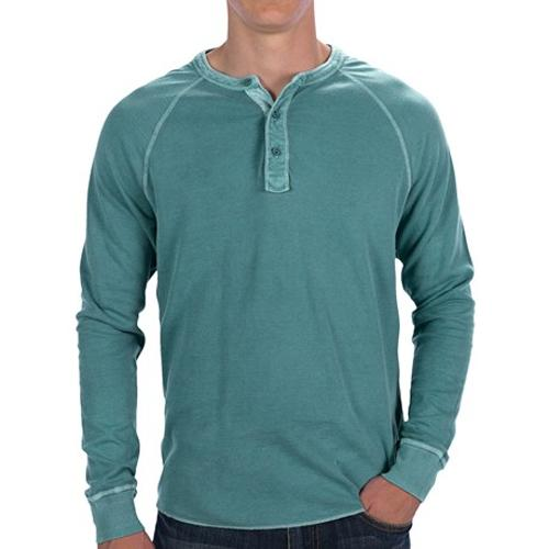 Double-Knit Henley Shirt - Long Sleeve by Lucky Brand in Addicted