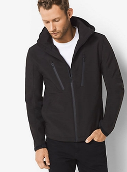 Zip-front Tech Hoodie by Michael Kors in Creed