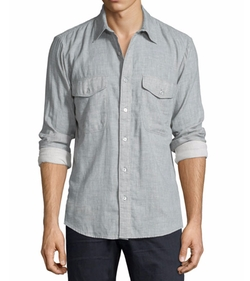 Double-Face Melange Sport Shirt by 7 For All Mankind in Lethal Weapon